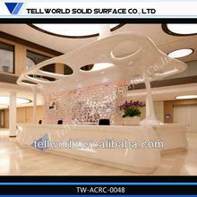 2013 Latest commercial reception desk fabulous elegant designed pure acrylic hotel reception counter front desk