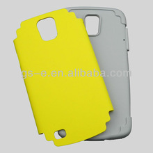 2013 wholesale good for samsung galaxy s4 active case 2 in 1 hard pc+soft silicone with in stock yellow ok