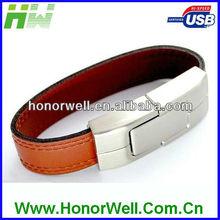 high quality leather usb flash memory 8GB for free logo