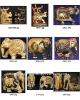 White wood carving handicraft animals