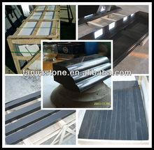 jet black granite slab and black granite tile