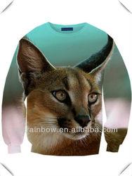 high quality Sublimation All over print crewneck sweatshirt,OEM, vivid 3D printing
