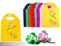 new style nylon fish folding shopping bags promotional