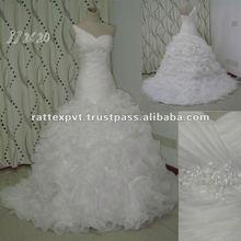 Hot Selling Sweetheart Beaded Ball Gown Taffeta wedding dress