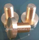 custom cnc machine flat head copper screw