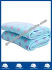 folded edge dots rotary printed soft warm polar fleece bedding blanket/throw