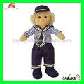 Le-d415 marinheiro menino pano boneca de pelúcia com roupa