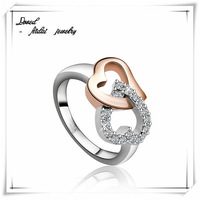 children jewelry crystal stainless steel ring(R5-A0090)