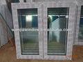 Foshan wanjia varones negros de la fábrica del diseño simple de fotos de ventanas correderas