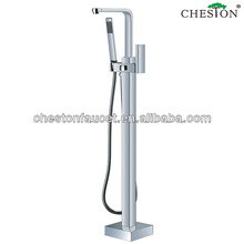Floor Mounted Free Standing Bathroom Tub Faucet With Hand Shower Mixer Tap Set