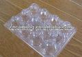 Venda quente claro embalagens de ovos de plástico caixa, limpar a bandeja do ovo