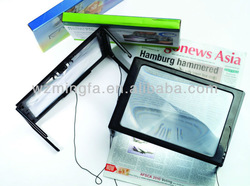 Table Lighted Magnifier, Desk Magnifier, Reading Tool,PVC Material,Gift
