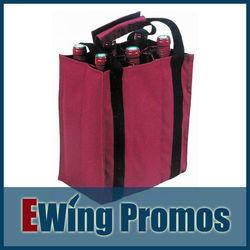 Non woven wine gift bag, 6 bottle wine bag, 6 bottle wine tote bag