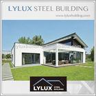 Steel modern prefab house single storey flat roof pre fabricated villa