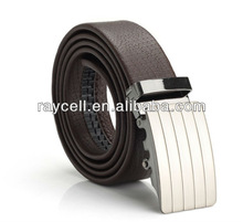 western factory direct selling promotional men's business embossed genuine leather automatic buckle belts with edge painted