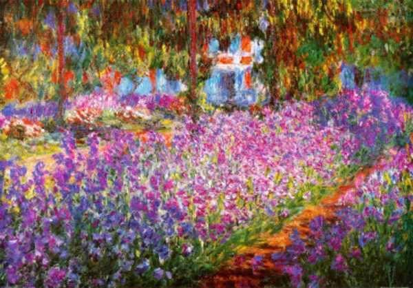 Jardins de Monet Pintura Pintura Reprodução Monet
