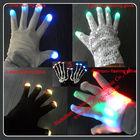 LED Novelty Items/Black and White LED Gloves Nylon,Acrylic,Single Jersey Material
