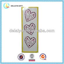 Lovely heart shape iphone gem diamond sticker for promotion