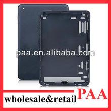 For iPad Mini Back Cover Housing, Black Aluminum Back Cover Replacement for Ipad Mini WI-FI