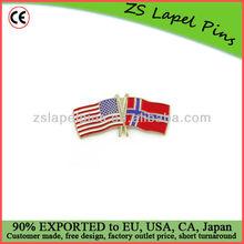 Cross flag pins/ lapel pin flag/ friendship pin flag