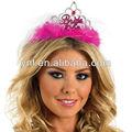 Novia a ser tiara con velo blanco de color rosa- de gallina noche fiesta de disfraces vestido de traje nuevo