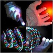 LED Light Up Rave Gloves Multicolor