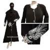 3PC Black Abaya Hijab Niqab Islamic Women DRESS L