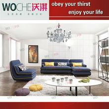 Popular wooden frame fabric sofa fabric sofa cum bed furniture guangzhou(WQ8813)fashionable fabric furniture sofa