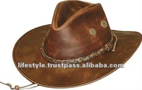 Cowboy Leather Hats, Western Leather Hats, Fashion Leather Hats,Leather Ridding Hats, Country Style Hats, Horse Rider Hats