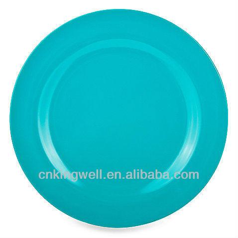 """เมลามีนสีฟ้าella101/2"""" จานอาหารค่ำ"""