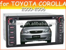 car audio car dvd player for TOYOTA COROLLA 2000-2006 car radio with gps navigation
