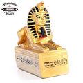 resina egípcio antigo ofício ouro de esfinge egípcia em hieróglifos base