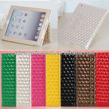 9.7 inch For iPad4/For The new iPad 3/iPad 2 Folio Stand Diamond Leather Case