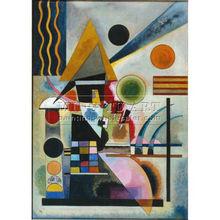 Handmade kandinsky abstract Oil painting, Swinging