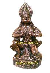 Black Metal Hanuman Statue