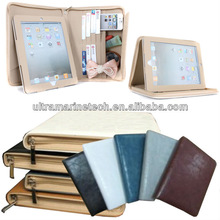 9.7 inch For iPad4/For The new iPad 3/iPad 2 Zipper Stand Wallet Leather Case