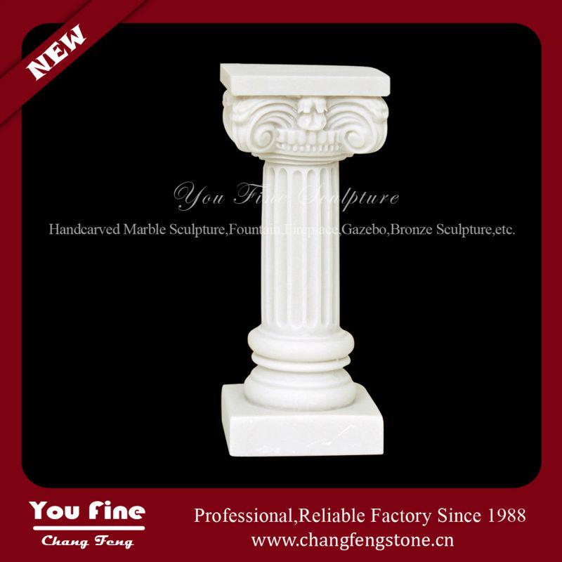 Indoor White Stone Home Decoration Columns