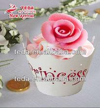 Crown cupcake wrapper wedding cake decoration