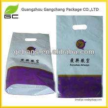 new fashion promotional plastic die cut shopping bag