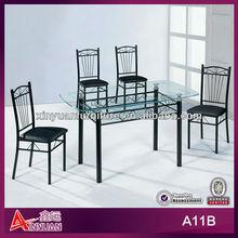 black laminate glass dining table