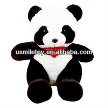large plush panda with kerchief