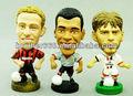 Os jogadores de futebol brinquedos figura; estrelas do futebol collectible figura; esportes figura brinquedo coleção