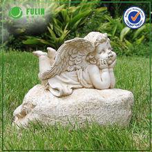 Popular Selling Resin Hope Sign Decoration Graden Cupid Ornament