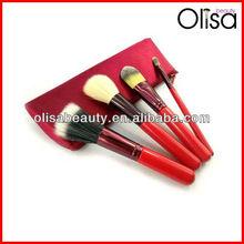 4 pcs red bag makeup brush set