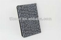 Leopard pu leather cases covers for ipad mini