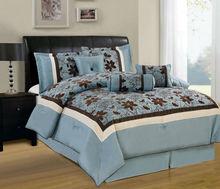 100% polyester 7pcs comforter set