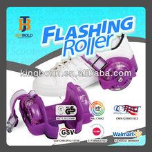 funny kids roller skate with 3-front led lights and color optional