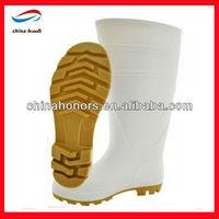 white pvc rain boot/lightweight/ durable rain boots