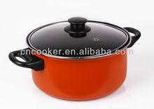 22 cm colorful white ceramic sauce pan