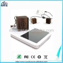nature wood portable mini cube speaker